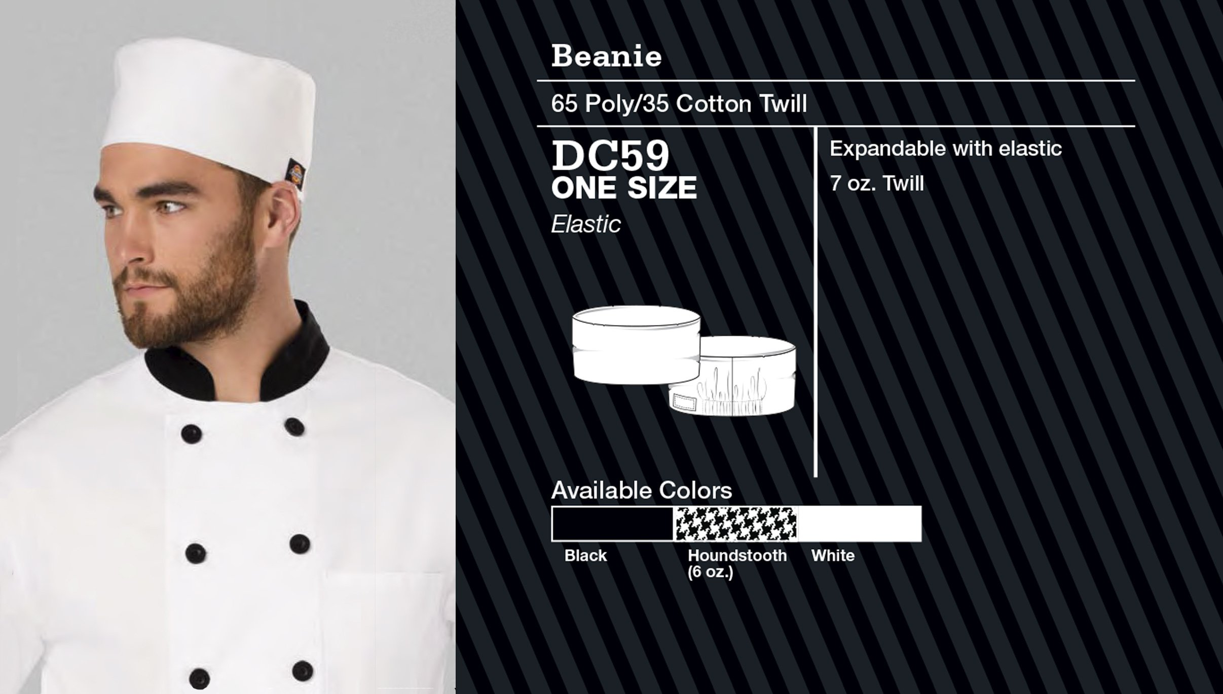 Sombrero de Chef Tradicional. DC591.