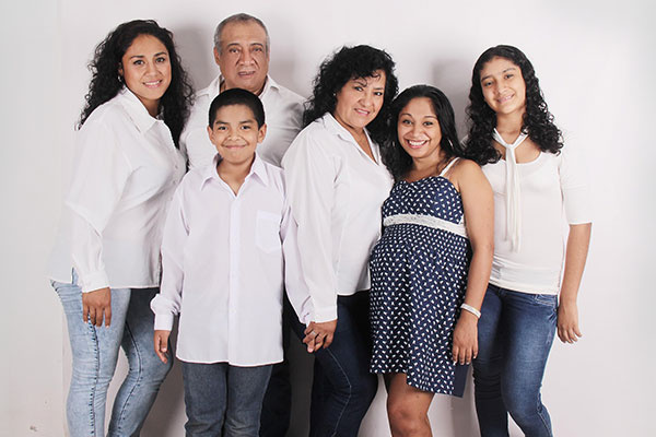 Hispanic Family Together