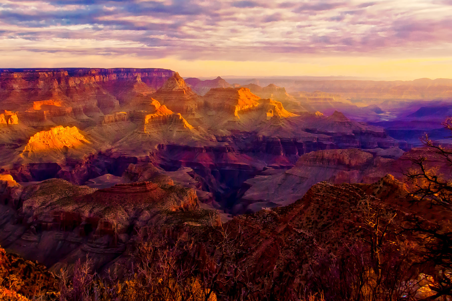 MORNING AT THE CANYON - Just another morning at the Grandest of all canyons.