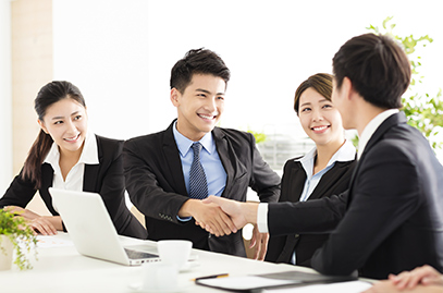 Insurance Agent Shaking Hands