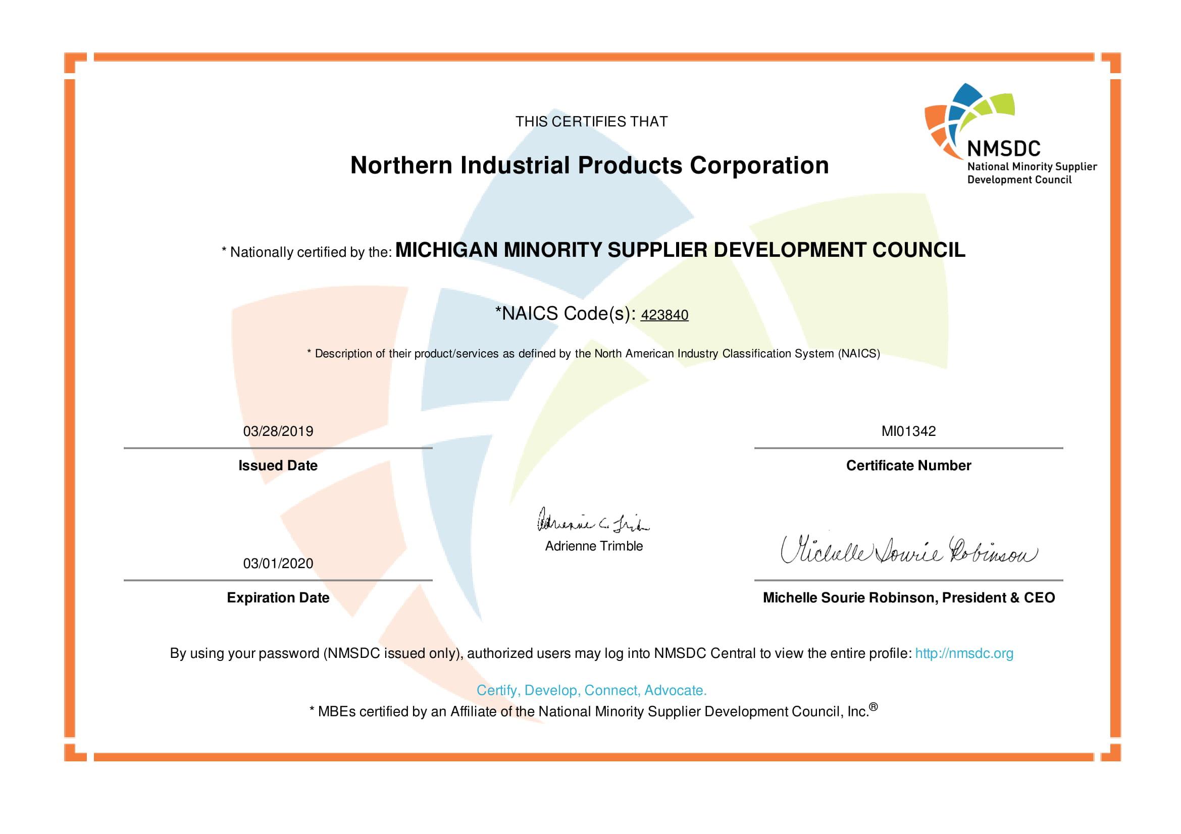 MMSDC Certification||||