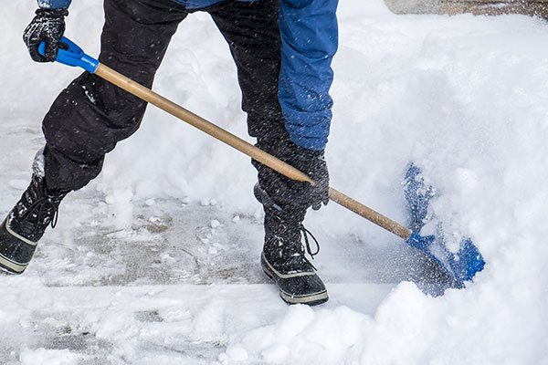 Removing The Snow In Winter