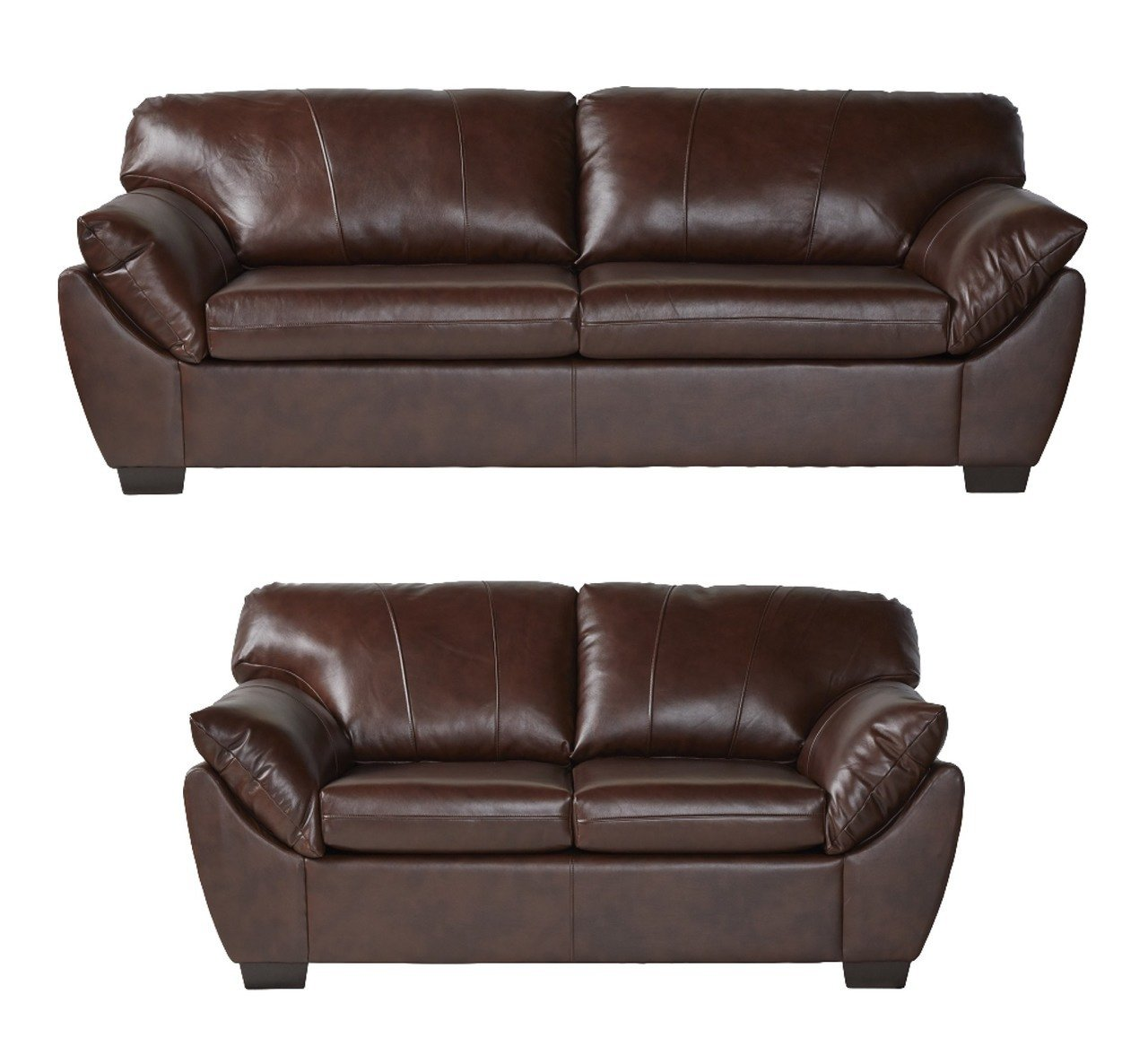 78400 Serta Leather Sofa and Loveseat