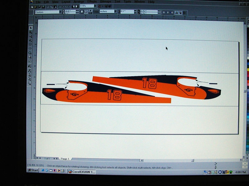 Begin by creating your artwork. The example shown hear has been developed using CorelDraw.