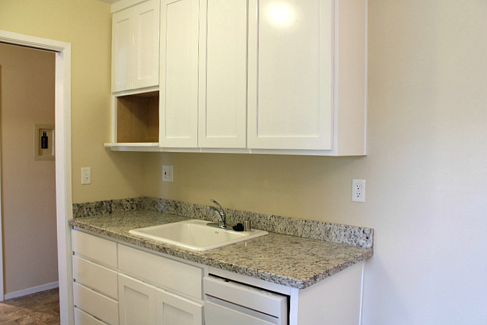 It will have a new dishwasher, too, like the apartment pictured here.
