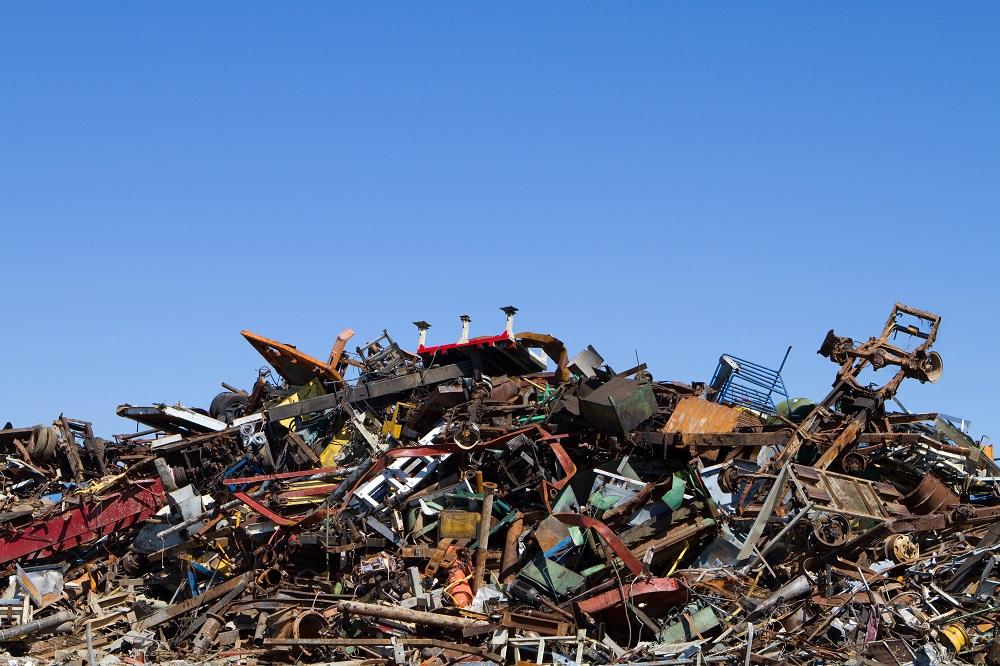 Scrap salvage yard