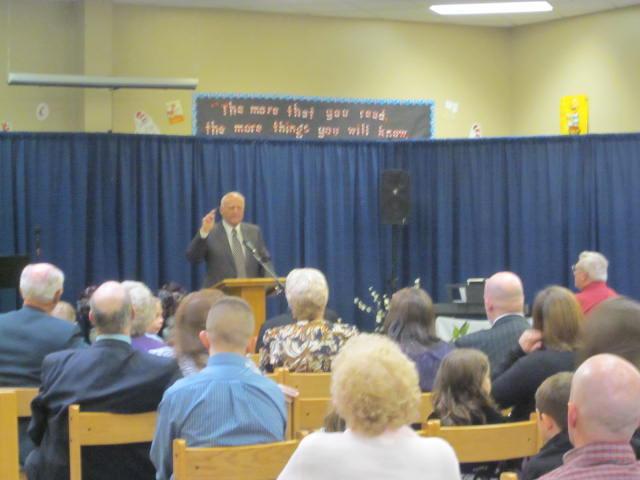Dr. John Bailes preached both services.
