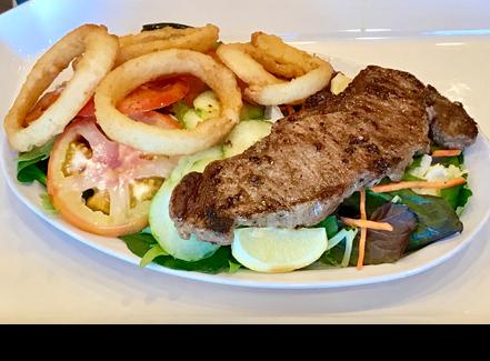 NY Steak and Salad