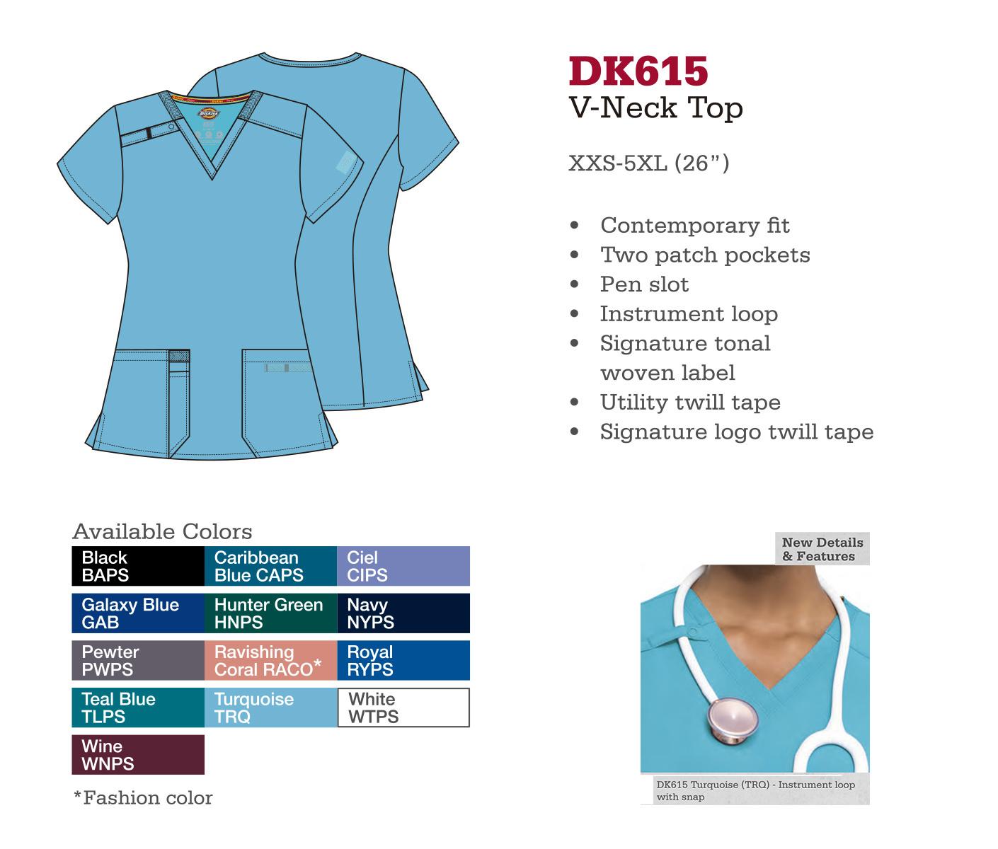 Cuello en V. DK615.