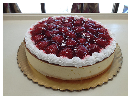 Yummy strawberry cheesecake||||