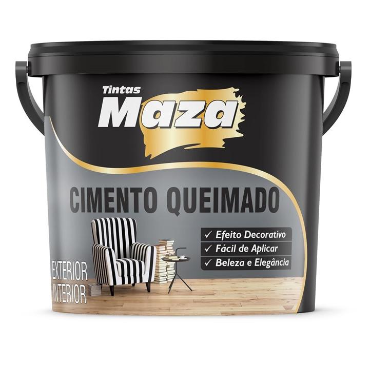 TEXTURA EFEITO CIMENTO QUEIMADO CINZA MAZA 25KG