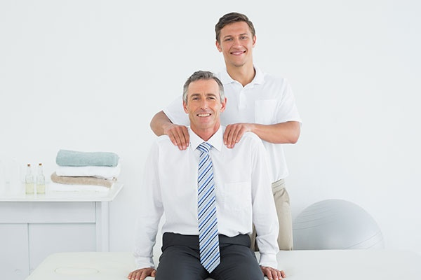 Chiropractor Massaging