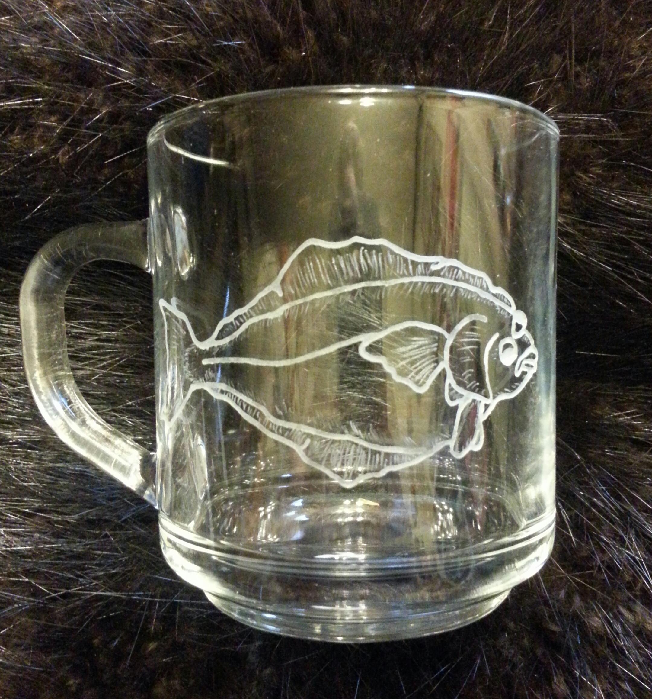 Halibut engraved coffee mug...  $30.00 ea