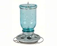 Antique Blue Glass Feeder