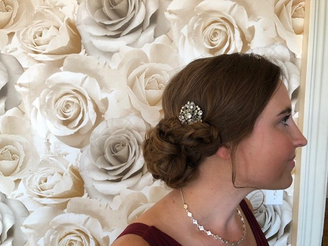Updo Hairstyle With Brooch