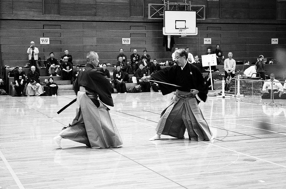 Kumitachi embu - Takano Sensei and Ishikawa Sensei.