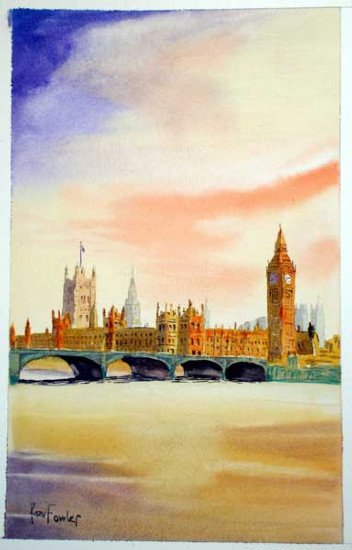 Westminster Bridge ........ Watercolour