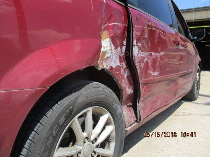 2014 Dodge Caravan Quarter/Door Damage