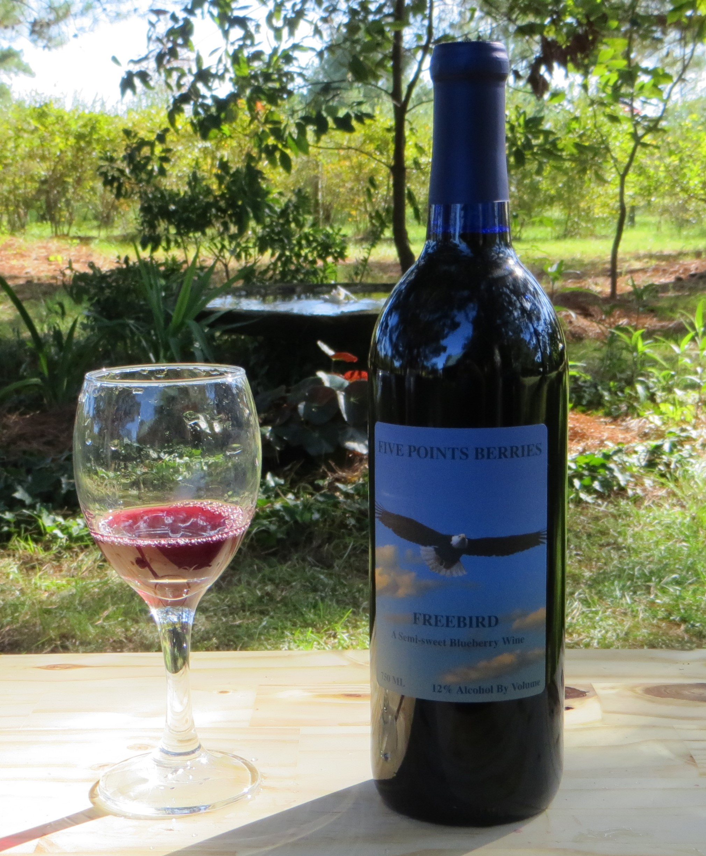 Semi Sweet Blueberry Wine Bottle