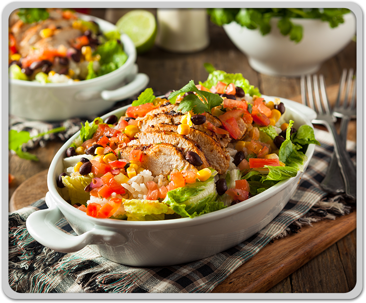 Homemade Mexican Chicken Burrito Bowl