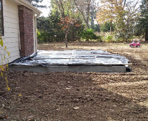 Constructing a Concrete Patio