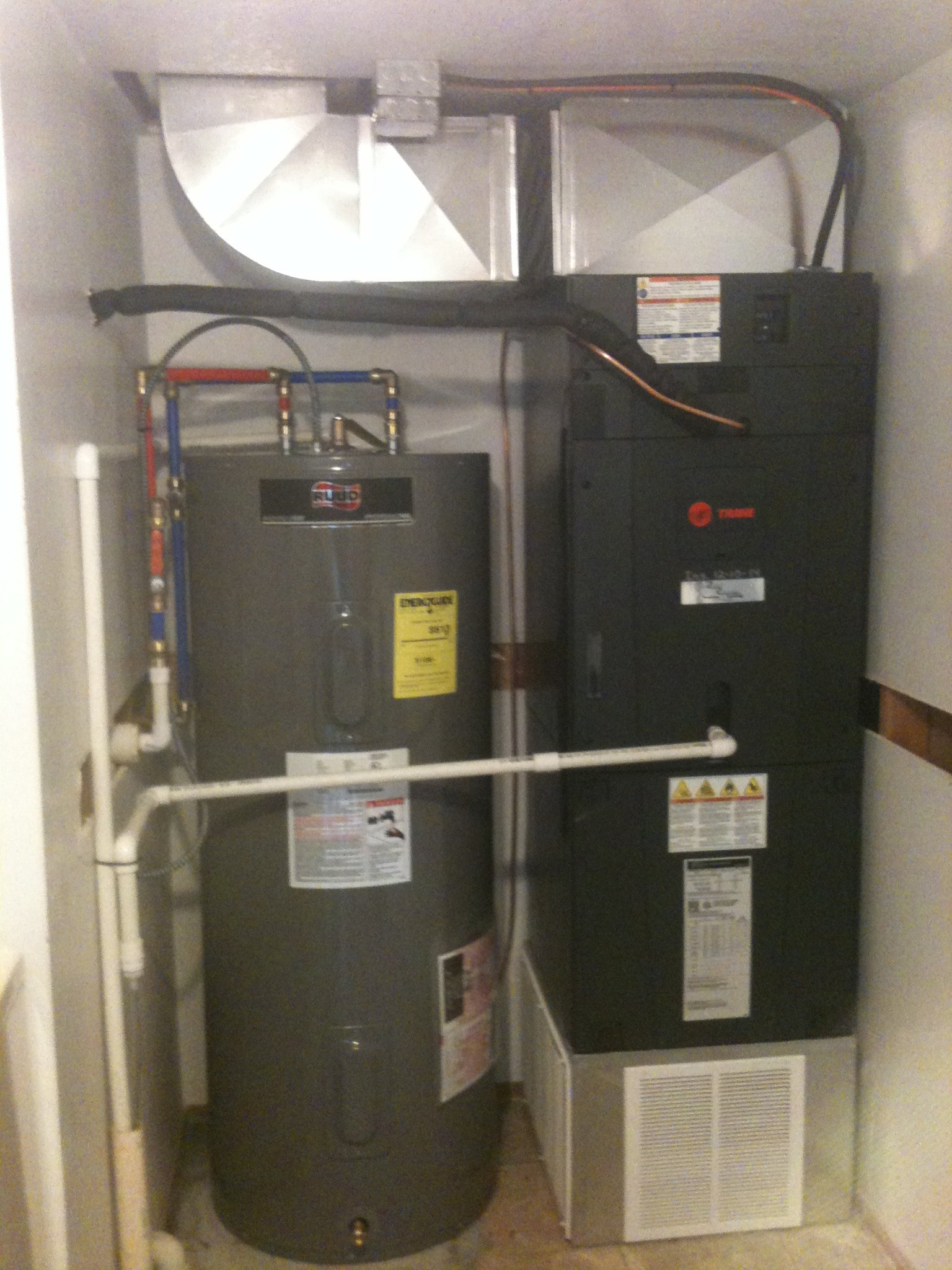 Water Heater and Air Handler Installation