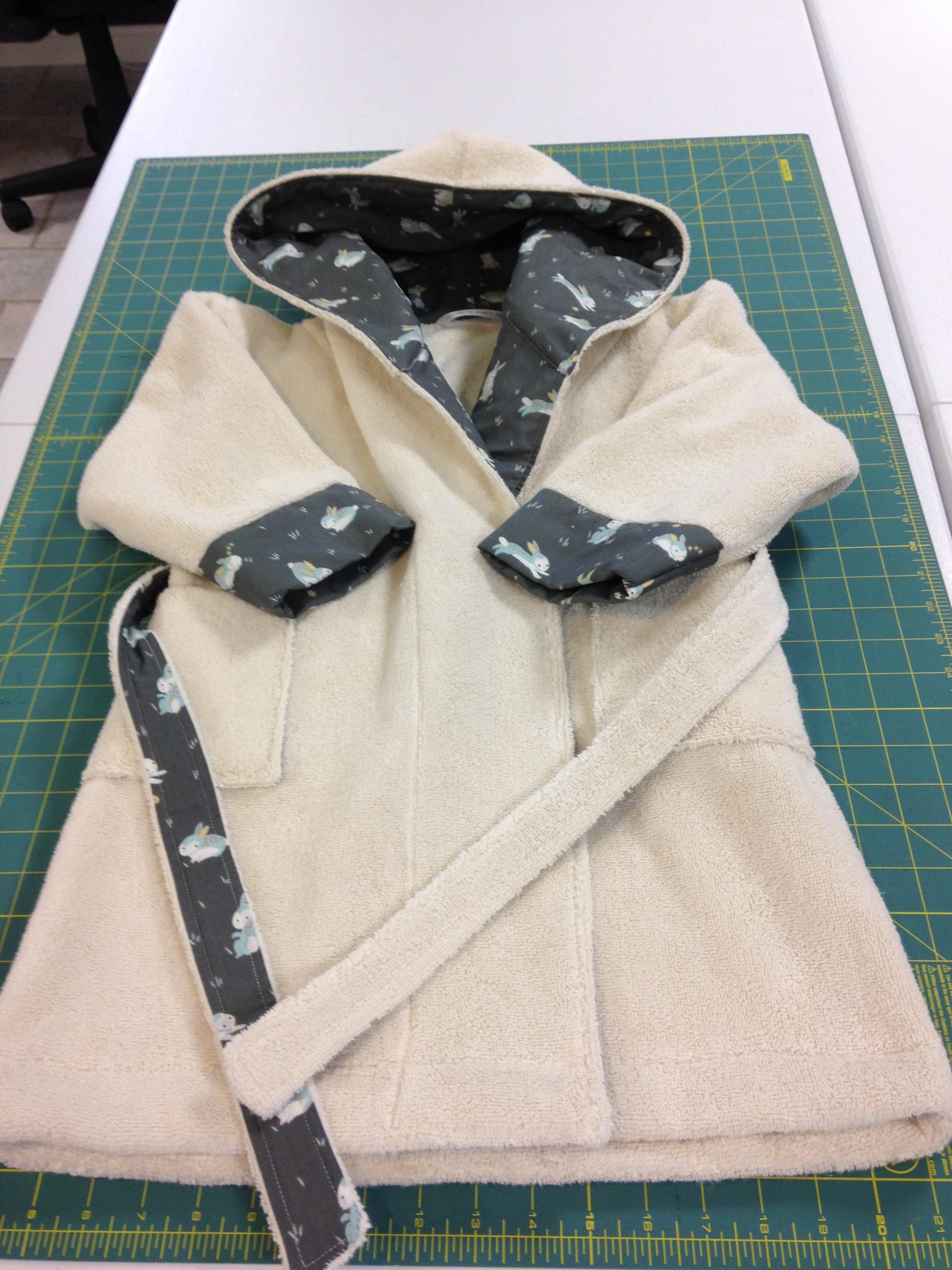 Custom child's robe.  100% organic cotton