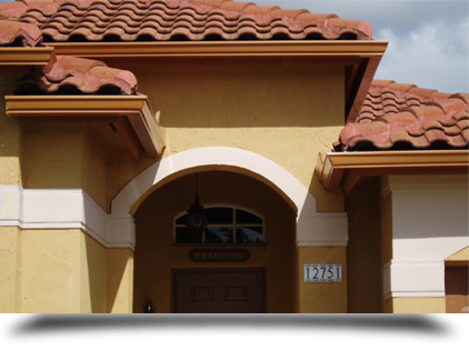 Gutter system on home    