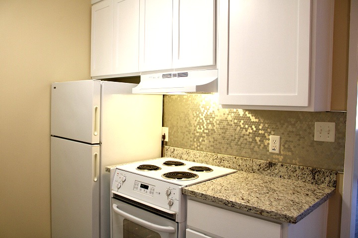 The apartment will have a similar kitchen when it is finished