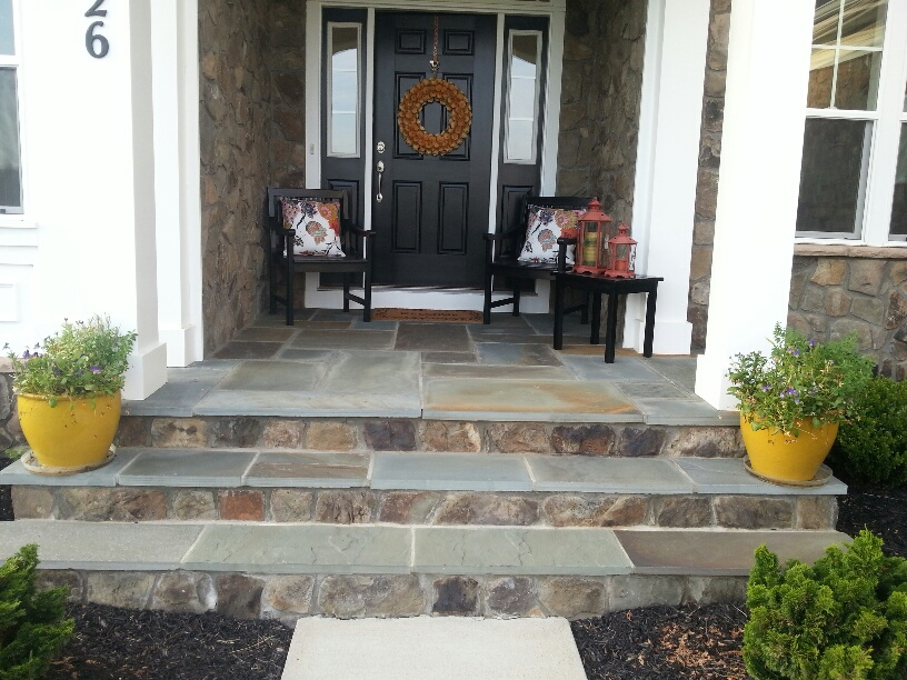 Residential Stone Entryway