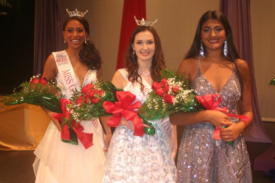 Keelie Jones, Alexandria Foy, and Valeri Umesh (first runner-up)