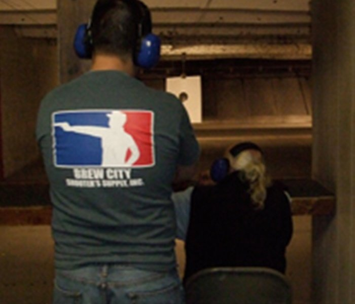 Gun Instructor and Student