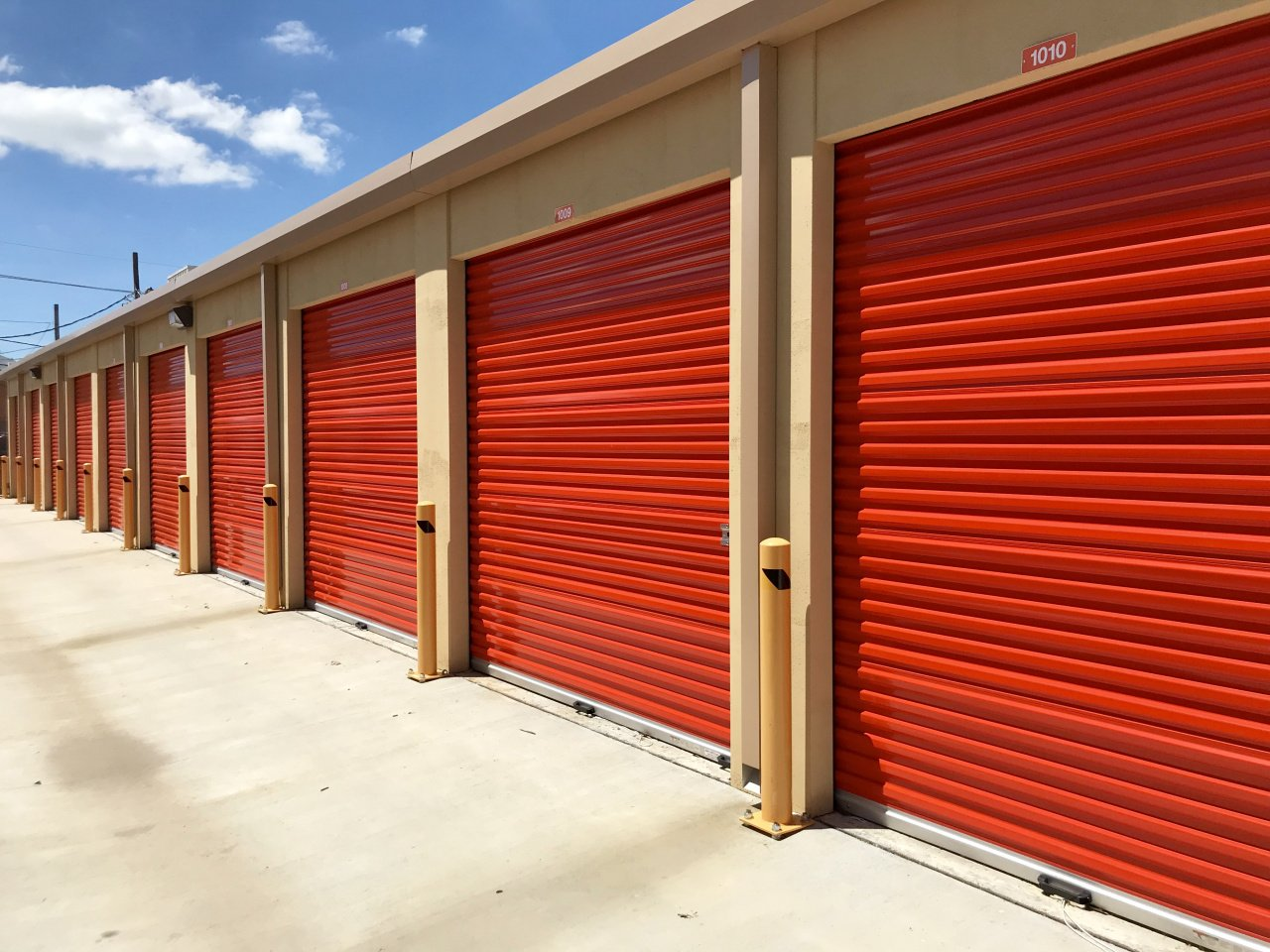 Row of Climate Controlled Self Storage Units