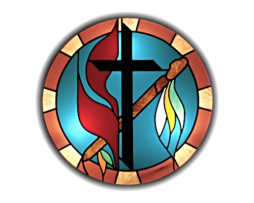 Methodist Cross & Flame