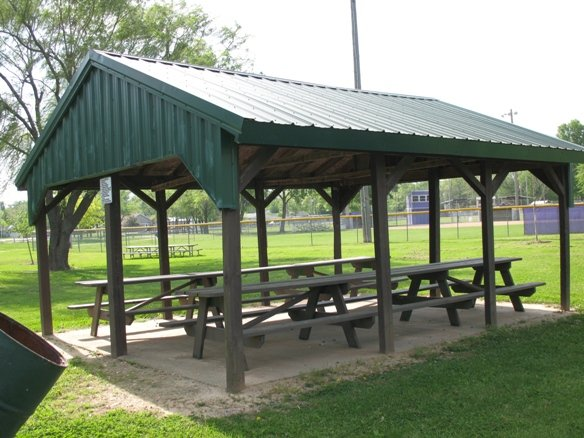 CENTERFIELD SHELTER  Located on Shaw St.  Parking  Seats 20  Near Shaw St. Diamond  Nearby Restrooms
