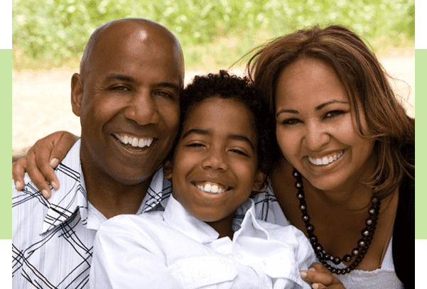 Portrait of Happy Multicultural Family Smiling.