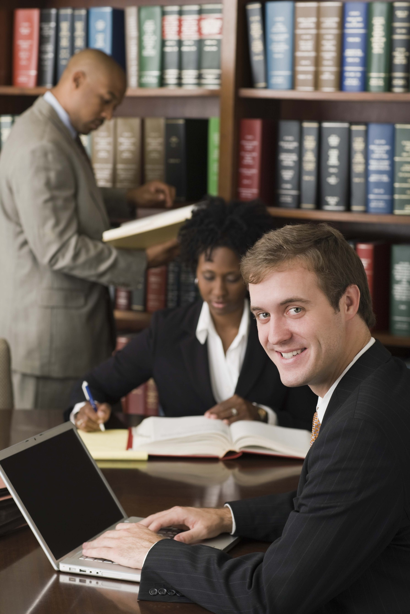 Lawyers Researching in Library||||