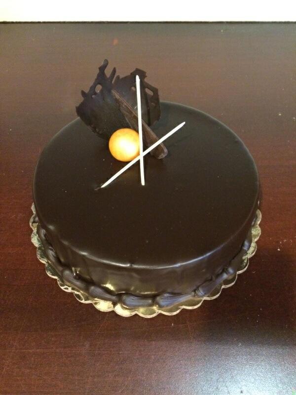 Dark Chocolate Mousse with Chocolate Cake and Chocolate Ganache