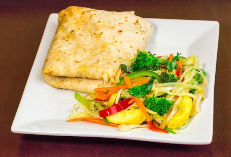 Jerk Vegetable Roti
