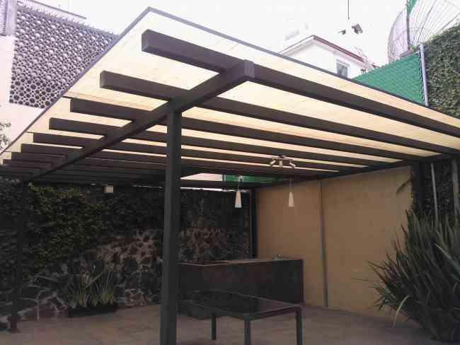 Laminas y domos del oeste trabajos realizados for Cobertizo de jardin moderno de techo plano