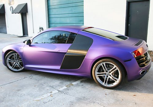 Audi R8 With Purple Wrap