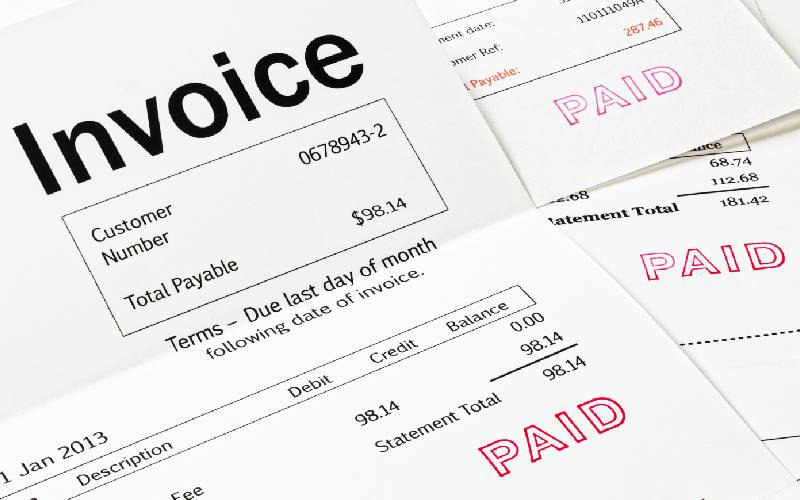 Invoices with Paid Stamp