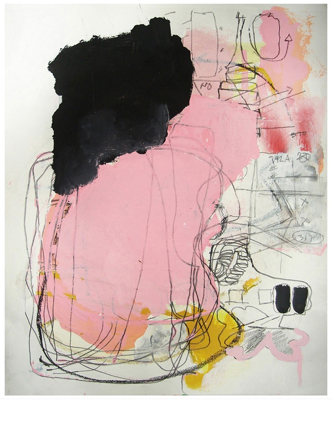 michael tino art \ diffidence and taciturn | mixed media on paper. 2014. abstract-automatism.