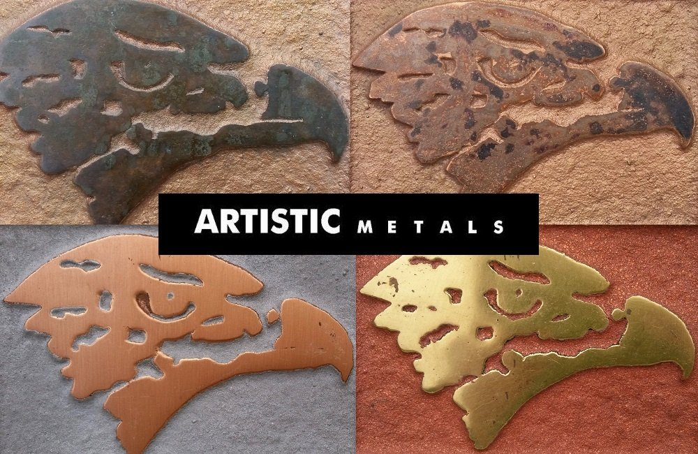 Unique applied metal finishes & coatings in bronze, copper, brass, pewter and verdigris.