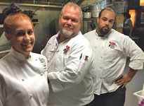 Chef Bob (middle) and His Staff