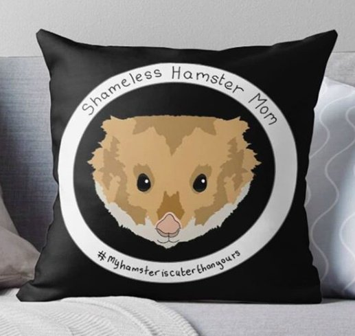 Hamster Mom Cushion