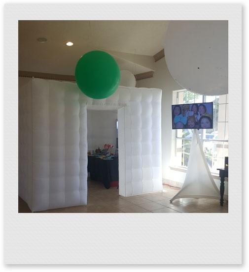 Event Photo Booth Setup