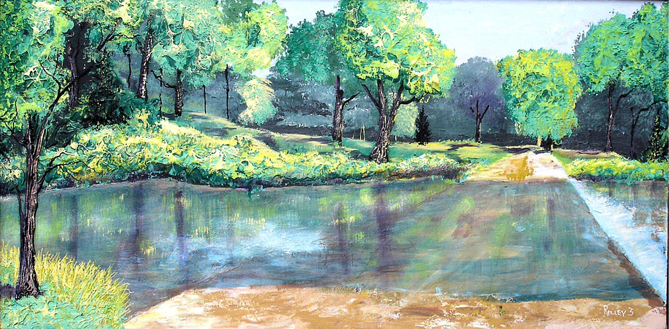 WHIT PINES CREEK  CROSSING   24x48  $400