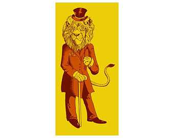 "Dandy Lion Silkscreen 10"" X 20"" $60."
