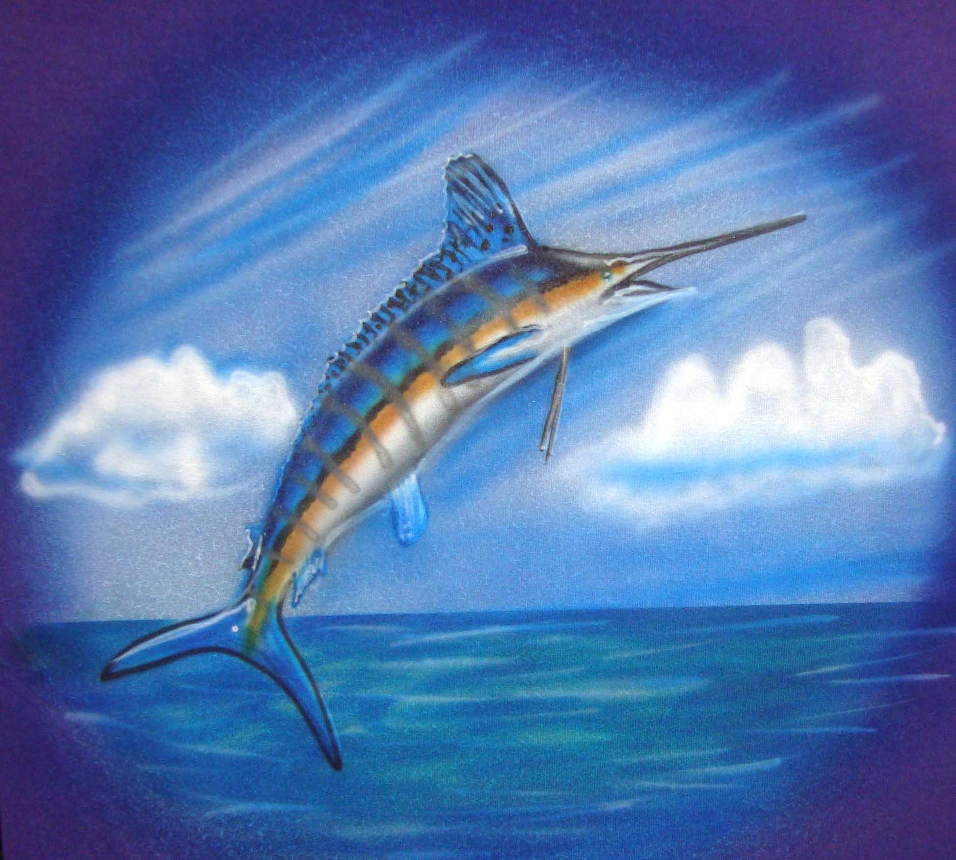 Airbrushed Marlin